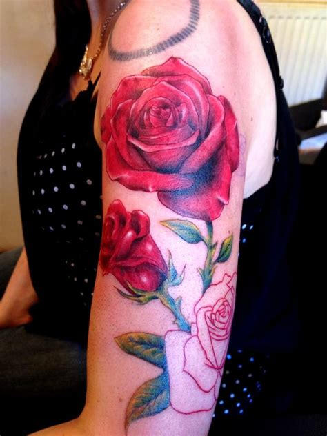 rose realism tattoo realistic half sleeve tattooyou