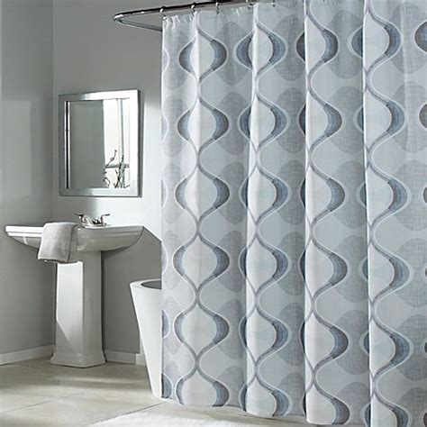 graphic shower curtains m style graphic edge shower curtain bed bath beyond
