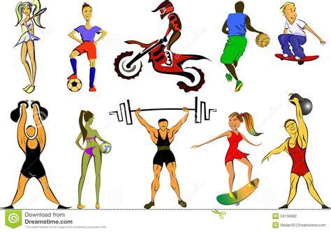 big sport set stock vector illustration of contest