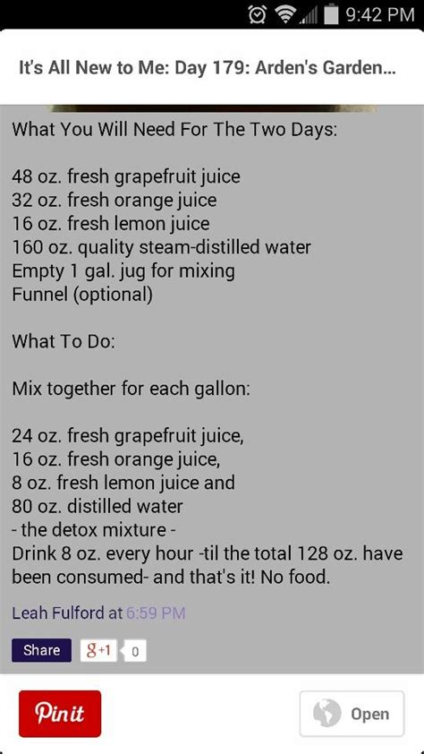 Arden S Garden Detox Recipe by 17 Best Ideas About Grapefruit Diet On