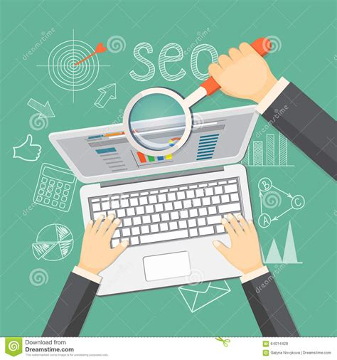 Seo Technology by Concept Of Seo Technology Stock Vector Image 64014428