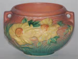 Roseville Pottery Vase Value Roseville Pottery Peony Pink Jardiniere For Sale