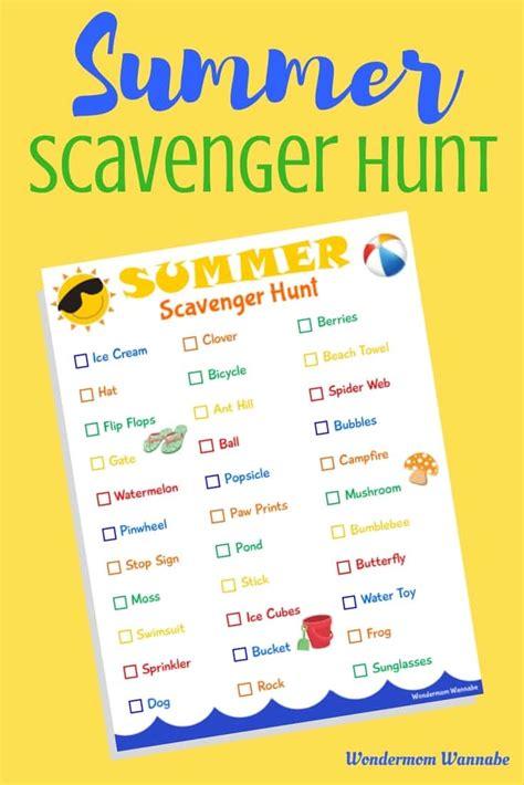 On The Hunt For by Printable Summer Scavenger Hunt