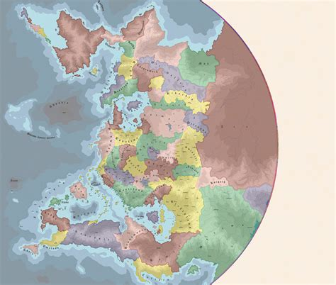 mad world map map of amalga colored kingdoms smaller by elemental