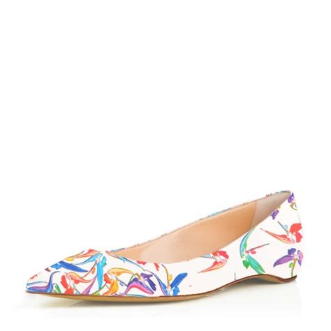 comfortable and cute flats white floral pointy toe flats comfortable cute shoes for