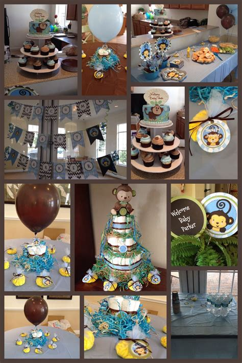 Monkey Boy Themed Baby Shower by Monkey Boy Baby Shower Theme Blue Green Brown