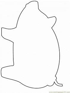 Pig Pattern Use The Printable Outline For Crafts Creating Stencils Scrapbooking And More Printable Cutting Board Templates
