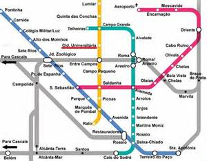 Lisbon Subway Map by Useful Informations Social Contract Theory Past