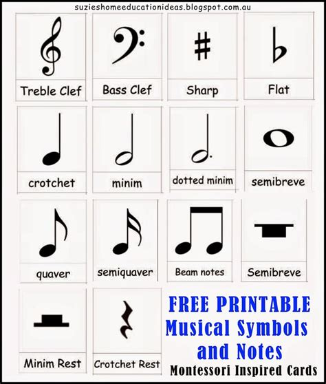 printable music note value flash cards introducing musical symbols and notes note cards free