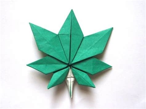 Origami Marijuana Leaf - origami maple leaf by quot jassu quot kyu seok oh part 1 of 2