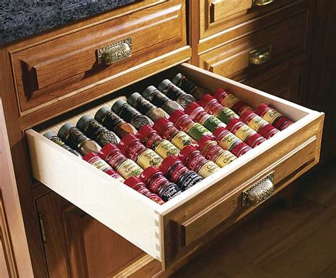 Spice Holders For Drawers by Organize Your Cabinets Custom Cabinets