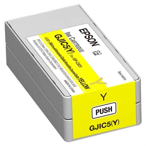 Epson Gp Kudapom 2 the epson cjic5 yellow ink cartridge for gp c831 colorworks inkjet color label printer