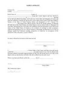 south affidavit template affidavit word template masir