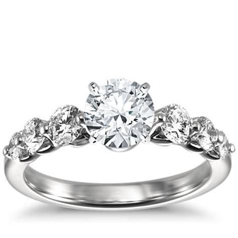floating engagement ring in platinum 3 4 ct tw
