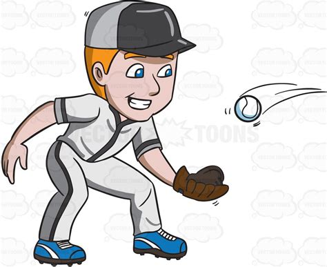 Baseball Player Catch Clipart Www Pixshark Images