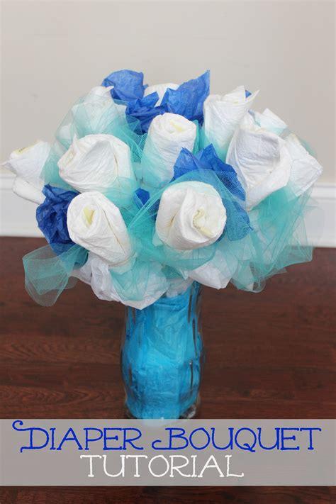 diaper bathtub how to make a diaper bouquet picture tutorial frugal fanatic