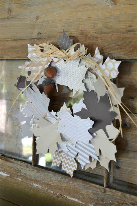 easy fall decor diy paper leaf wreath my creative days