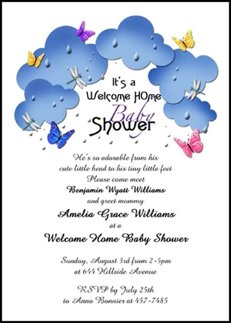 baby welcome invitation cards templates free welcome home wording for 99 162 baby shower invites