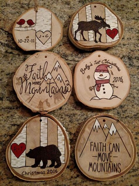 15 christmas ornaments you should try 1 faith log slices