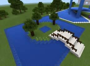 Backyard Ideas In Minecraft Minecraft Bridge And Garden And Pond Minecraft Creations
