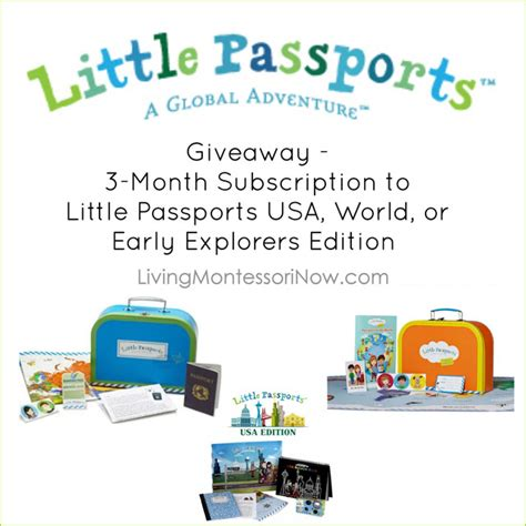 Subscription Giveaway - montessori inspired little passports early explorers