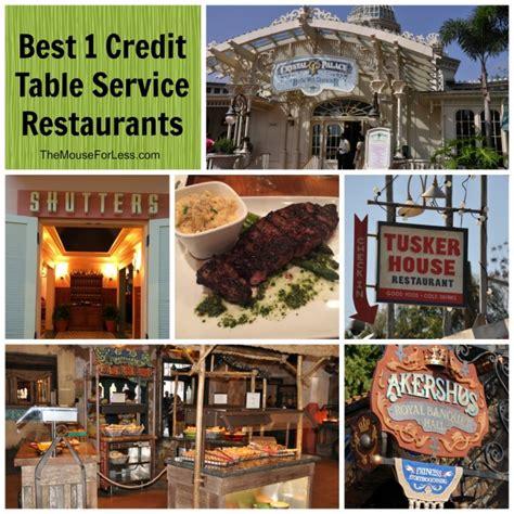 Best One Table Service Credit Restaurants At Walt Disney World Disney Dining Table Service