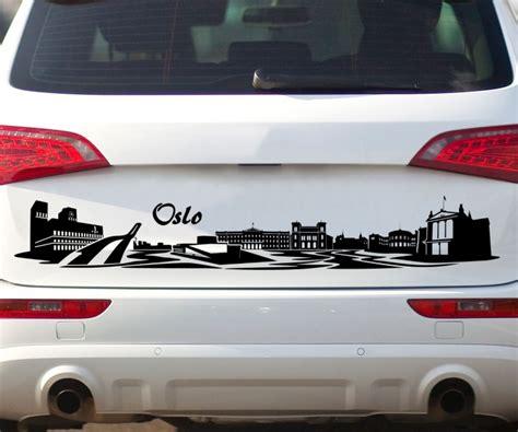 Autoaufkleber Norwegen by Autoaufkleber Oslo Norwegen Skyline Car Sticker Auto