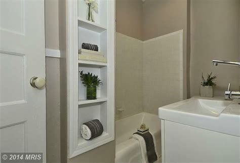 bathroom built in shelving bathrooms