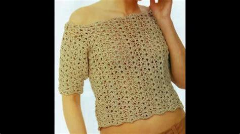 como tejer de gancho blusas blusa sin hombros manga 3 4 punto calado a crochet youtube