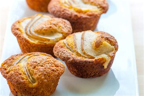 perfect pear and vanilla muffins recipe