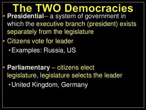 presidential parlimentary democracy