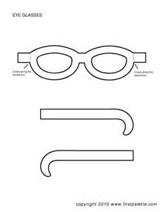 sunglasses template crafts glasses