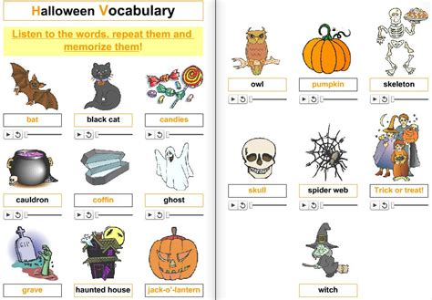 imagenes halloween ingles halloween prepositions of places didactalia material