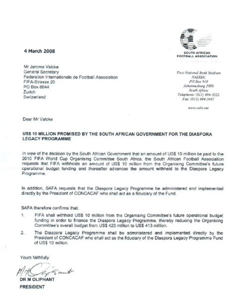 letter of demand template south africa south africa deny that 10m payment made to warner in
