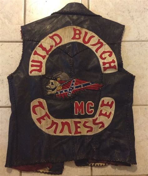 Motorradclub Patches by Vintage Outlaw Biker Club Vest 1 Er Club Colors Club Cut