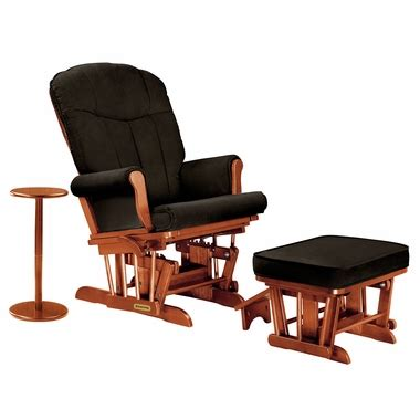 microfiber glider recliner with ottoman shermag sleigh reclining glider ottoman and side table in