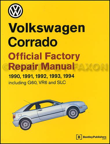1990 1994 volkswagen corrado repair shop manual
