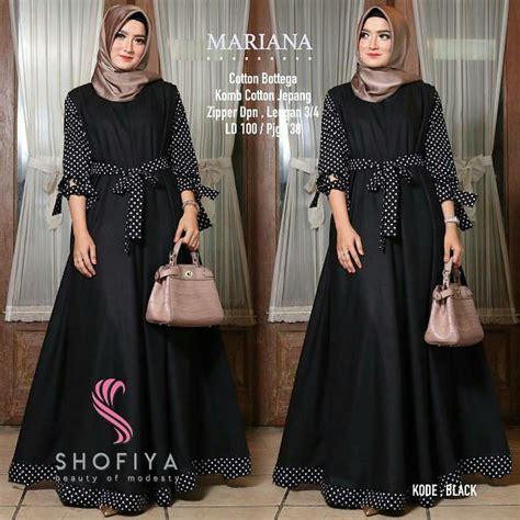 Baju Wanita Polka Dress jual baju muslim wanita mariana dress polka di lapak