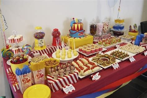 carnival themed food circus birthday party ideas birthdays carnivals and