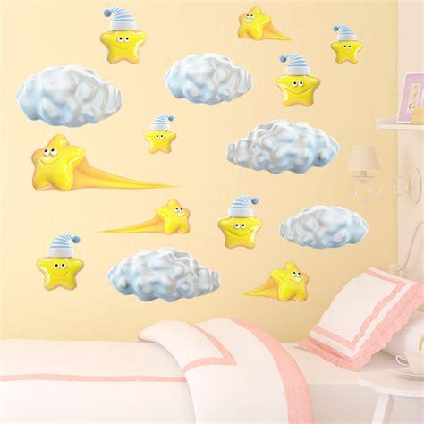 Wandtattoo Kinderzimmer Wolken by Kinderzimmer Wandtattoo Sonnen Wolken Regenbogen