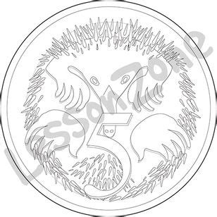 Australian Coins Outline by Lesson Zone Au Australia Day