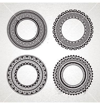 polynesian circle tattoo designs polynesian circle patterns vector illustrator