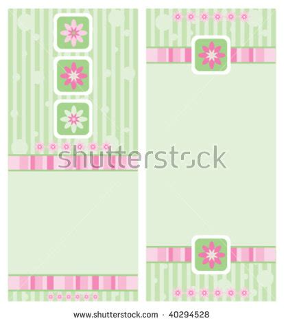 4x9 Rack Card Template by Fashionsummer Fashion Clothes Set Stock Photo