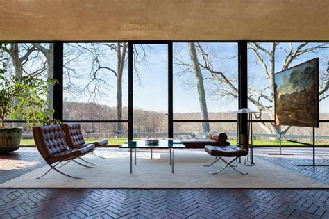 philip johnson glass house batman s taste in modernist furniture revealed in google maps tour of bruce wayne