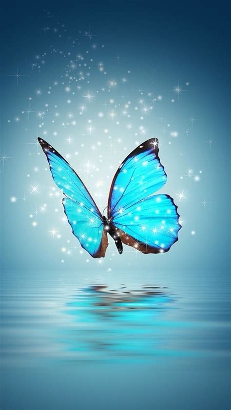 wallpaper iphone 6 butterfly background beautiful blue butterfly magic sparkle