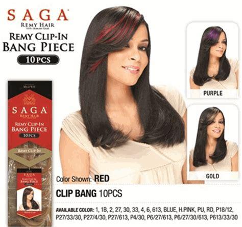 saga remy 27 pieces saga gold 100 remy human hair clip bang 10 pcs