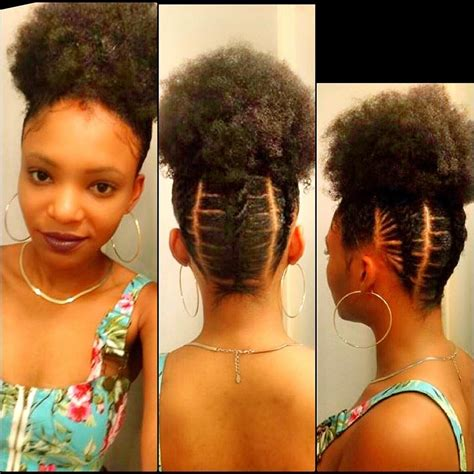 stylish cornrow puff personalize your afro puff elastic cornrows natural