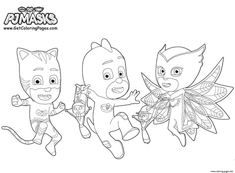 coloring pages pj masks printable pj masks coloring pages printable