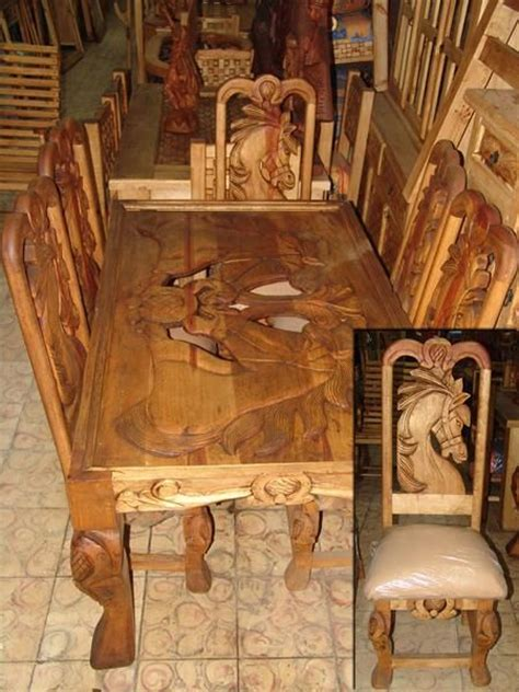 western dining room sets horse design carved dining table western rustic
