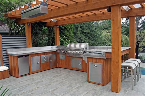 ideas for outdoor kitchen furnishings outdoor kitchen design ideas modern kitchens